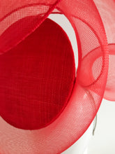 3D Percher Disc in Red with Crinoline Swirl