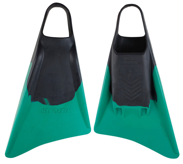 Stealth S3 Fins - Black/Emerald