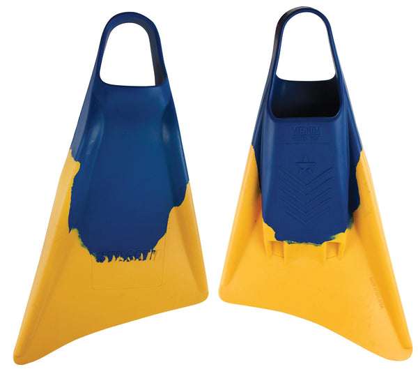 Stealth S3 Fins - Blue/Gold