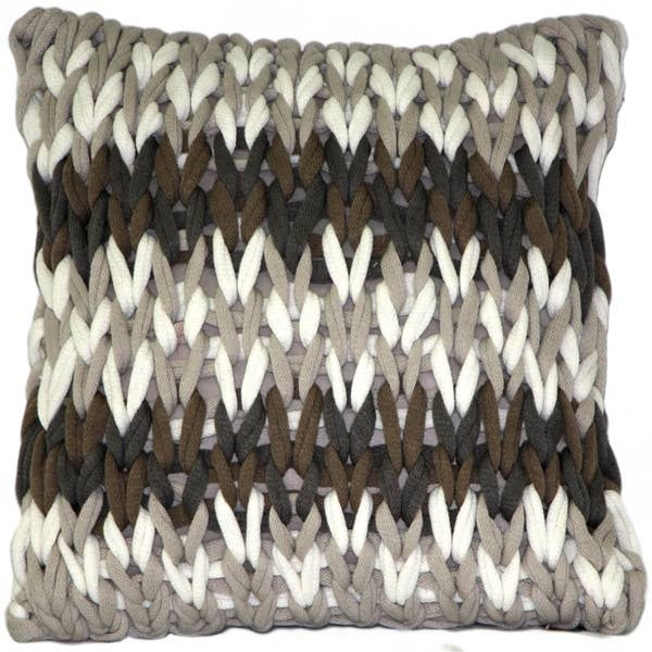"Pillow Decor - 18"" x 18"" Hygge Nordic Forest Chunky Knit Pillow"
