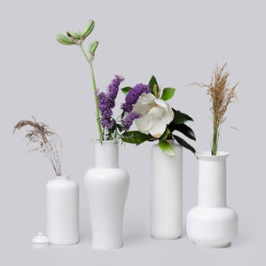 Middle Kingdom - Medium Semi-Matte White Vases