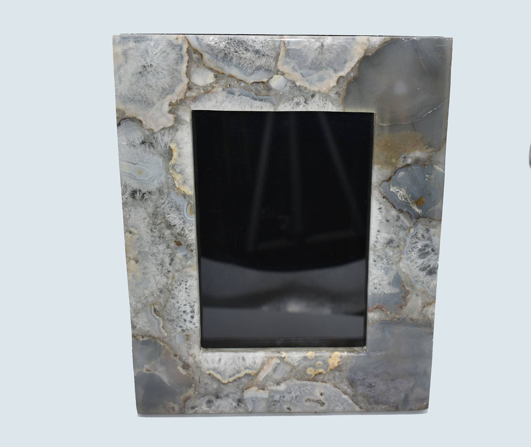 Olympus Minerals Co - 10 x 8 Natural Pastel Grey Agate Picture Frame