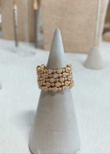 STACKED TOPAZ RING