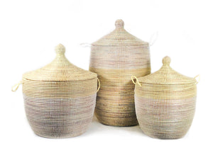MBARE Ltd - Senegalese Hamper - Two Tone Natural and White