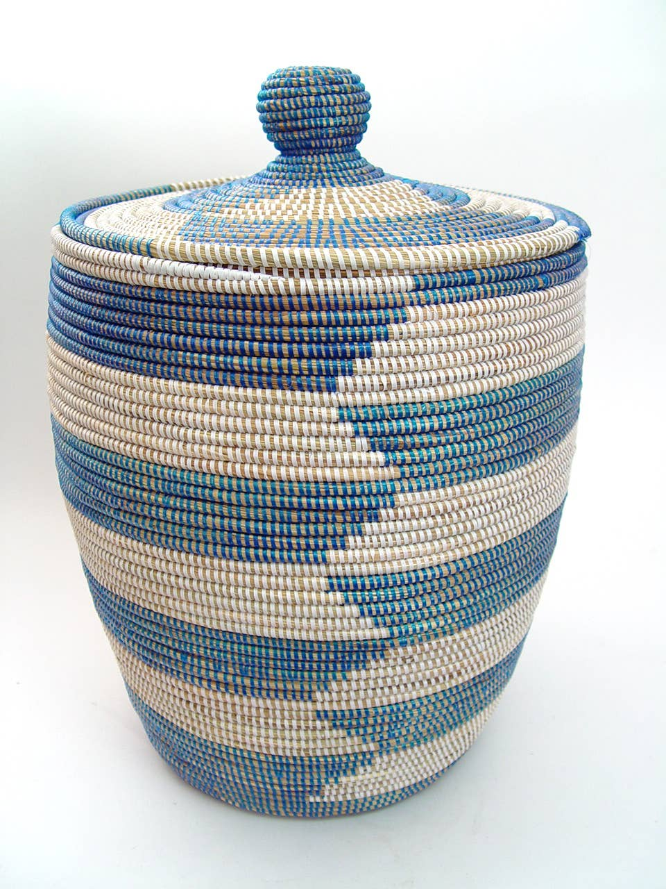 MBARE Ltd - Senegalese Hamper - Alternating Blue Stripe