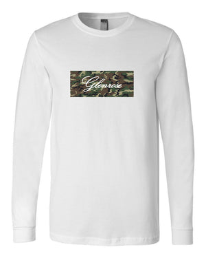 Camouflage Logo Tee Shirt (Long Sleeve White)