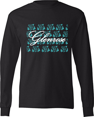 Uni-Sex Glenrose Bomb Logo T  (Long Sleeve Black)