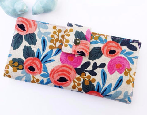 Beautiful Linen Floral Wallet