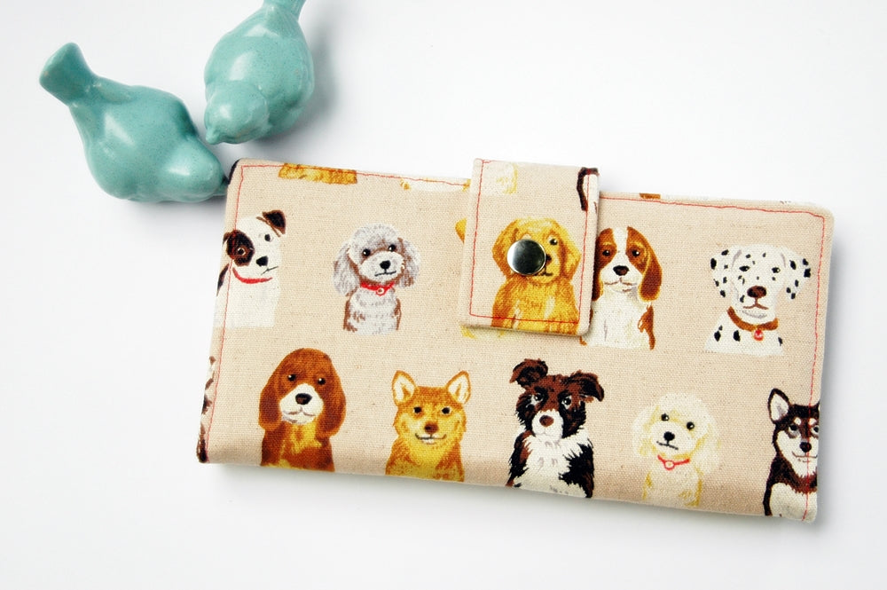 Dogs of all shapes and sizes adorable wallet