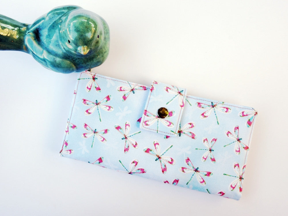 Wallet for women in dragonfly print outlander gift