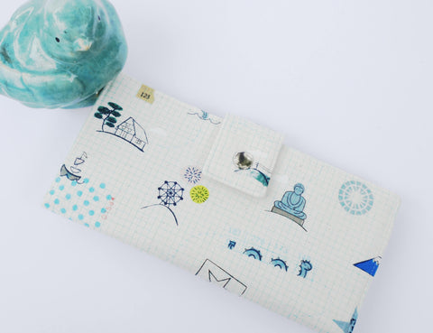 Womens wallet, Japanese fabric wallet, coin purse, vegan wallet, clutch, phone wallet, thin wallet, travel wallet, mothers day gift