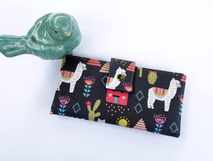 Alpaca fabric women's wallet