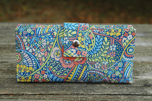 Wallet clutch for women handmade liberty of london pastels