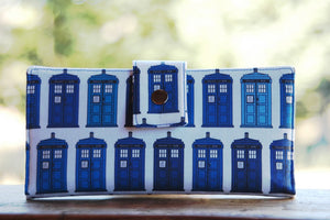 Tardis Dr. Who custom iphone wallet