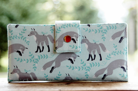 Foxes on Pale Blue