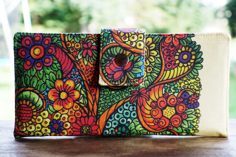 Women's wallet, Tree of life gift, tree wallet, tree gift idea, gift for mom, gift for wife, wallet for women, vegan wallet, thin wallet