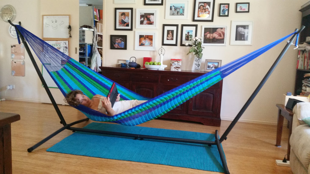 Steel Frame with King Size Mexican Hammock