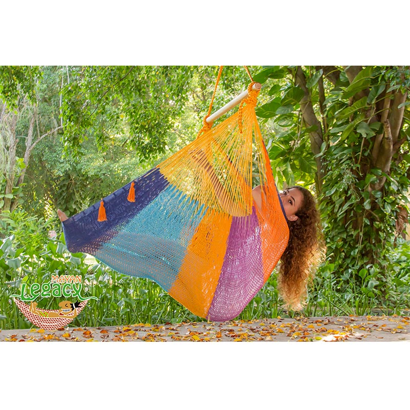 Extra Large Mexican Hammock Chair in Outdoor Cotton Colour Alegra