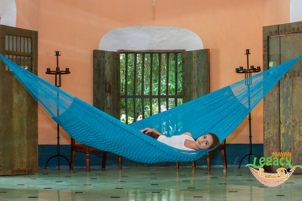 King plus  Nylon  Mexican Hammock  in Bondi Colour