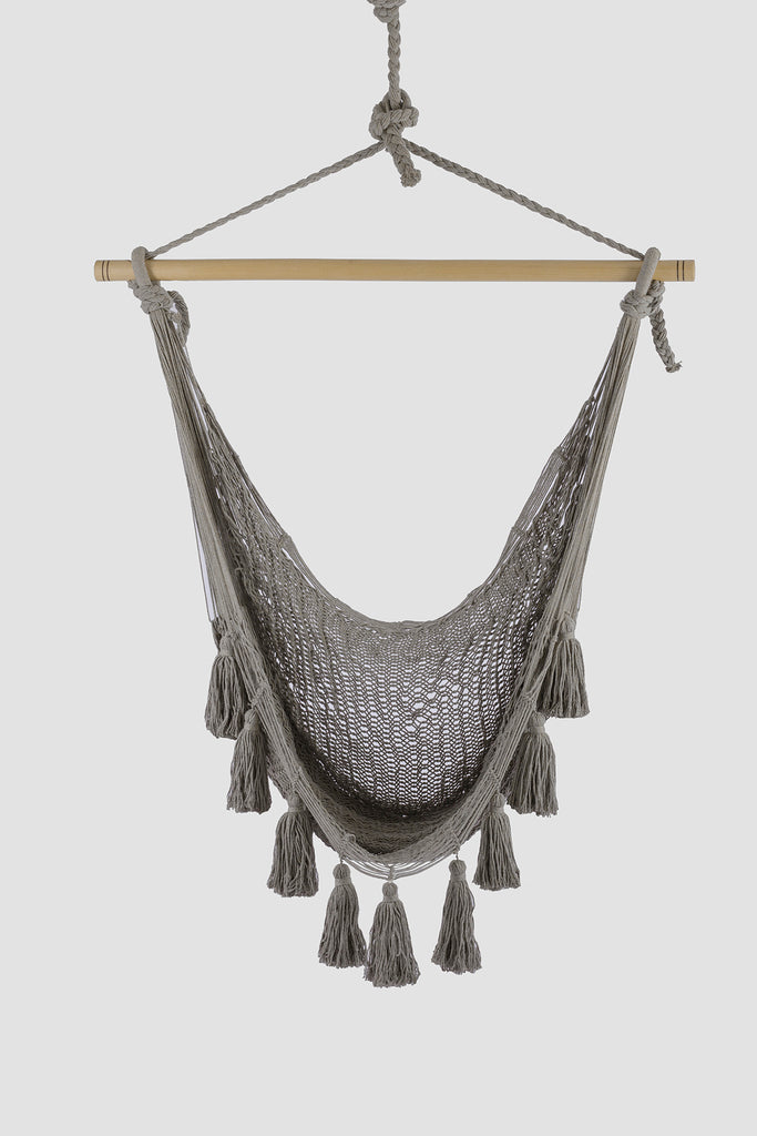 Deluxe Extra Large Mexican Hammock Chair in Outdoor Cotton Colour Dream Sands