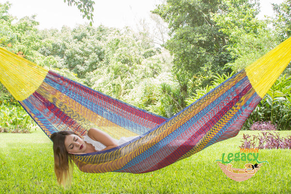 Cotton Mexican Hammock  in Confeti Colour