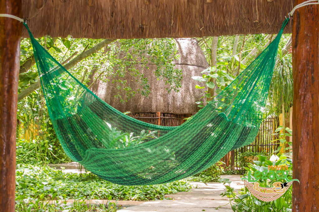 Cotton Mexican Hammock  in Jardin Colour