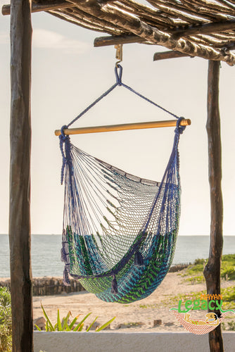 Extra Large Mexican Hammock Chair in Caribe