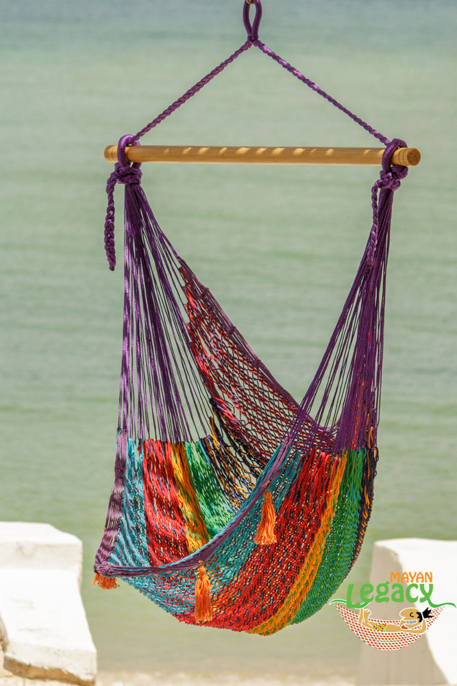 Extra Large Mexican Hammock Chair in Outdoor Cotton Colour Colorina