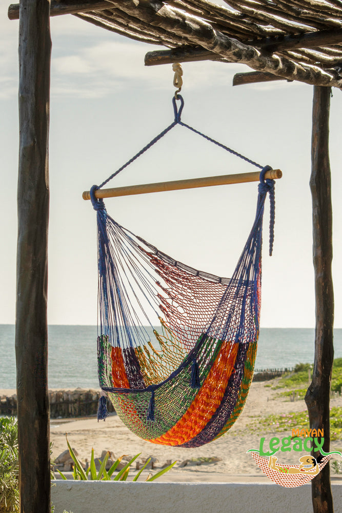 Extra Large Mexican Hammock Chair in Outdoor Cotton Colour Mexicana