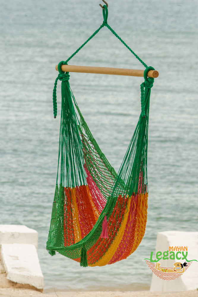 Extra Large Mexican Hammock Chair in Outdoor Cotton Colour Radiante