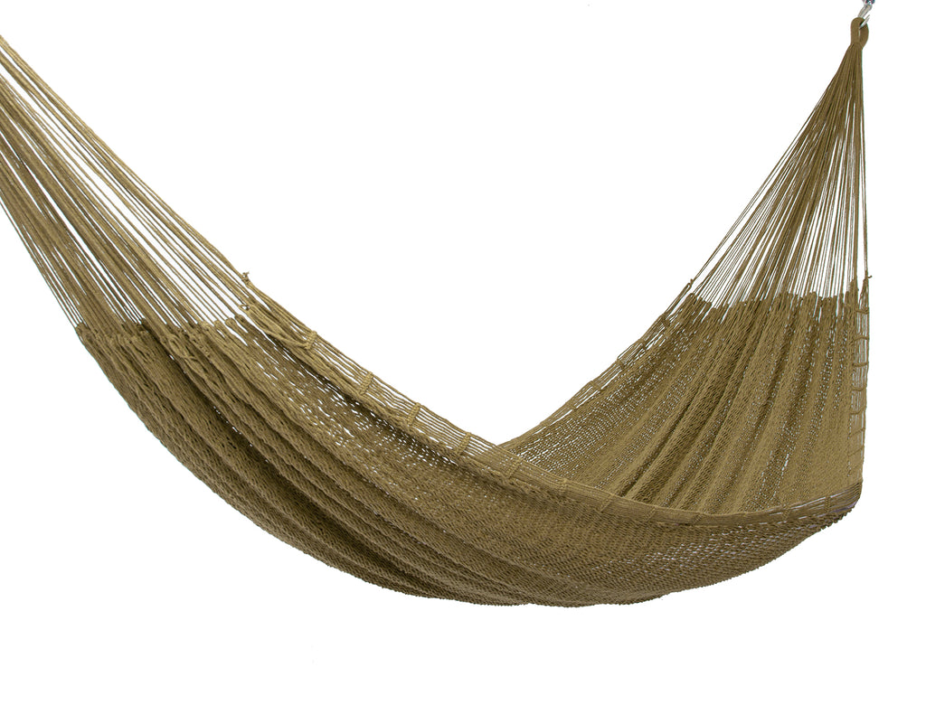 Outdoor Cotton Mexican Hammock  in Cedar Colour