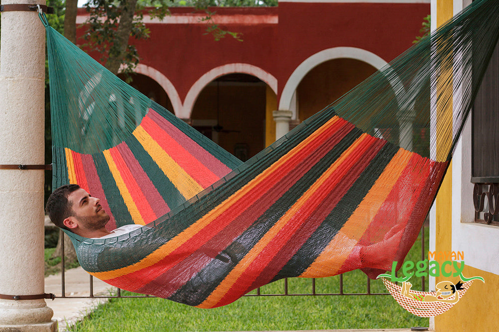 Cotton Mexican Hammock  in Imperial Colour