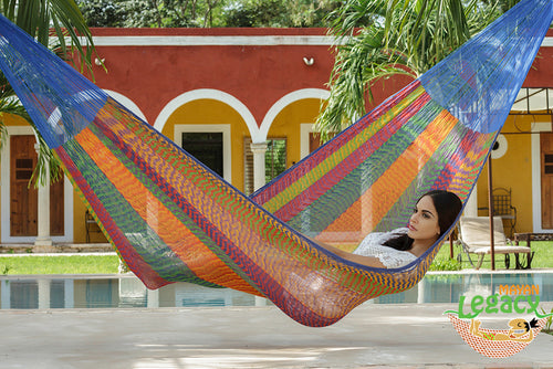 Cotton Mexican Hammock  in Mexicana Colour