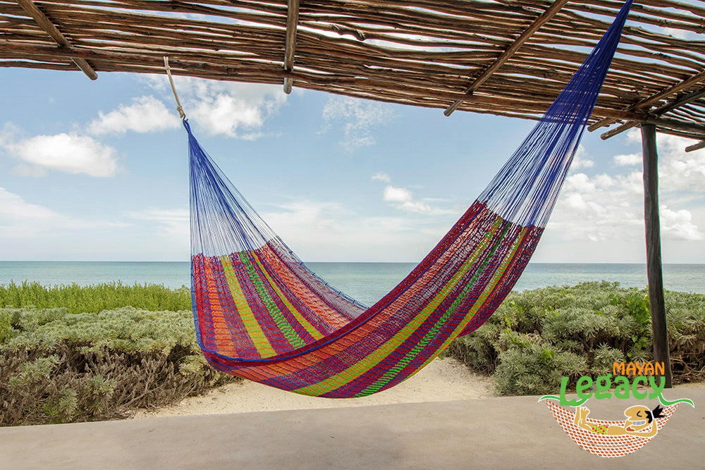 Super  Nylon Mexican Hammock  in Mexicana  Colour