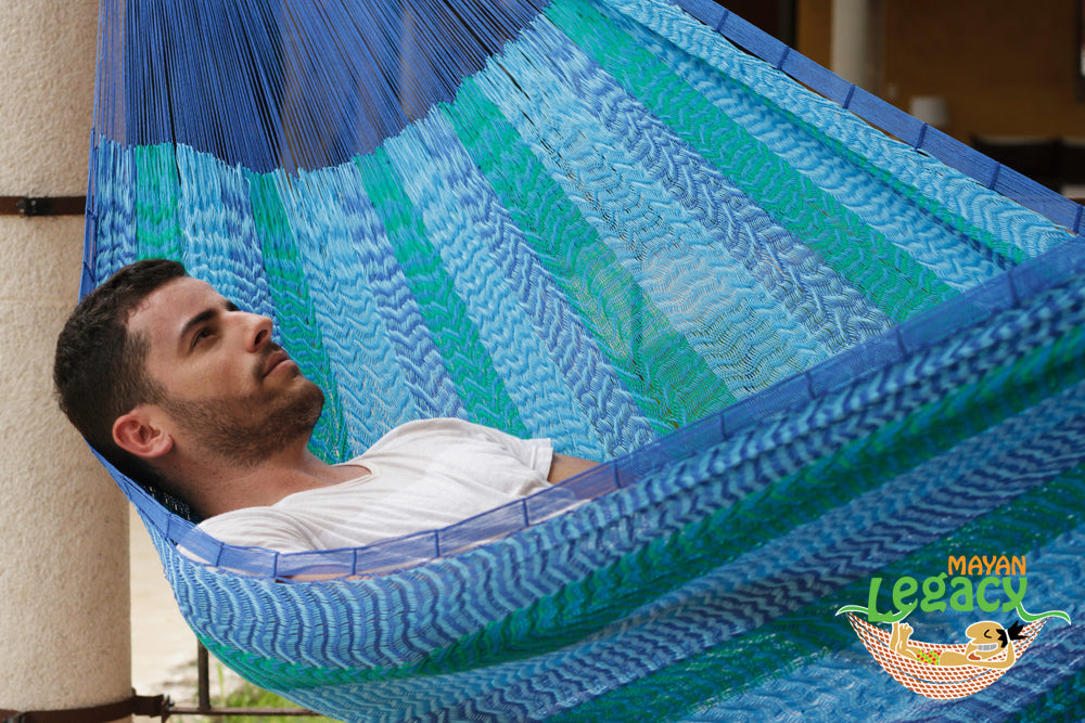 Nylon  Mexican Hammock  in Caribe Colour