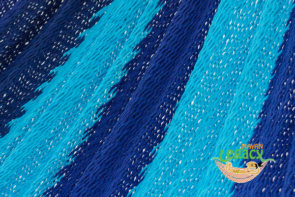 Outdoor Cotton Mexican Hammock  in Caribean Blue Colour