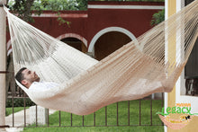 Outdoor Cotton Mexican Hammock  in Cream Colour