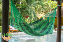 Outdoor Cotton Mexican Hammock  in Jardin Colour