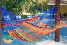 Outdoor Cotton Mexican Hammock  in Mexicana  Colour