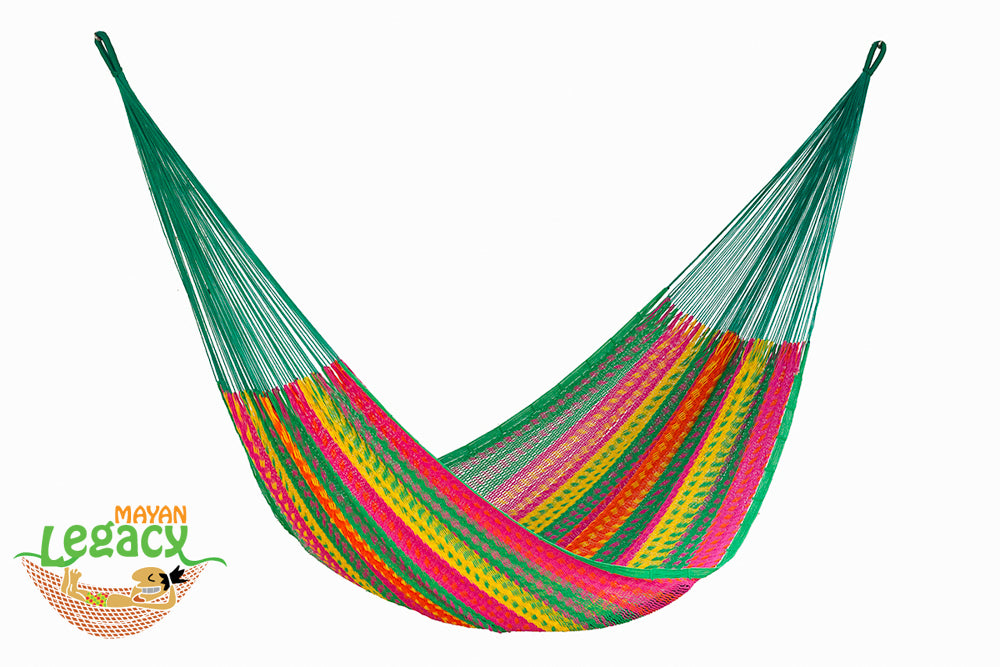 Outdoor Cotton Mexican Hammock  in Radiante Colour