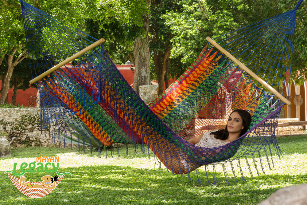 Resort Mexican Hammock with Fringe in Mexicana