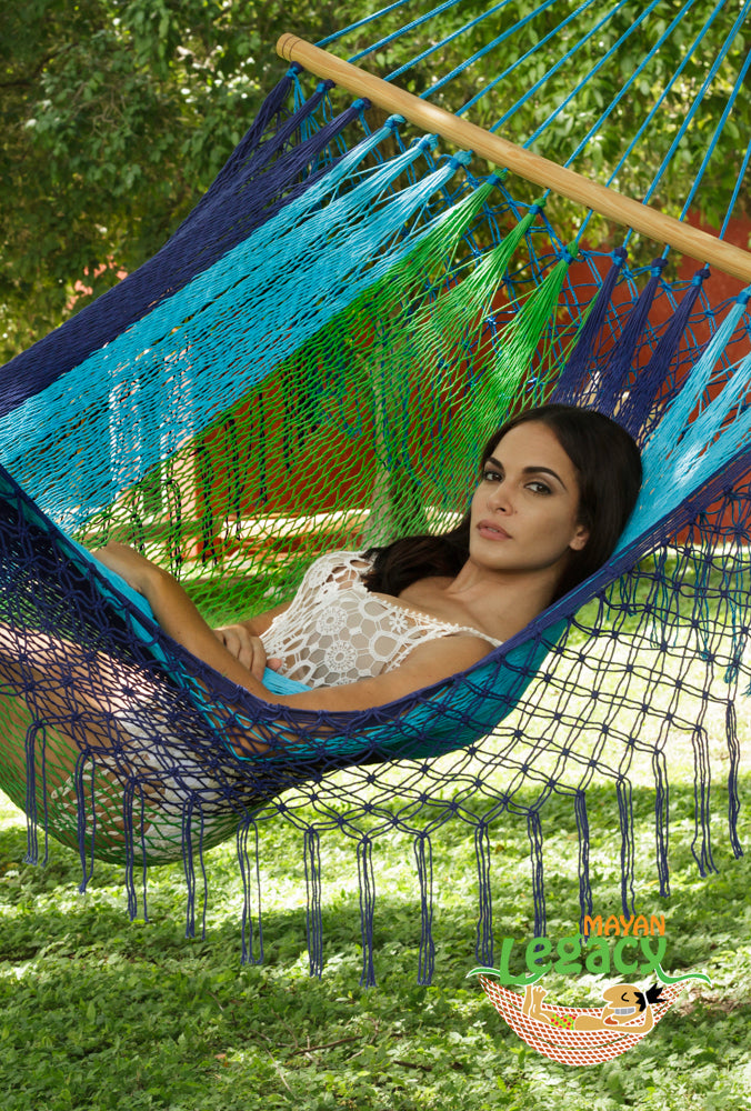 Resort Mexican Hammock with Fringe in Oceanica