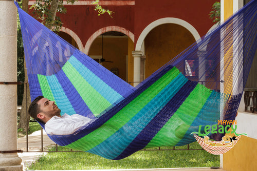 Super  Nylon Mexican Hammock  in Oceanica  Colour