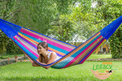 Nylon Mexican Hammock  in Mexicana  Colour
