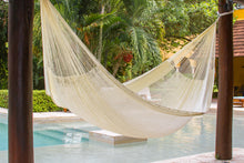 Nylon Mexican Hammock  in Cream  Colour