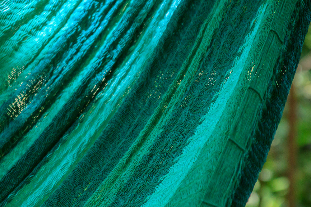 NEW: Nylon  Mexican Hammock  in Fresh Garden Colour