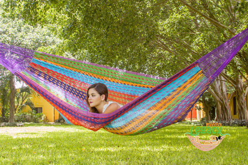 Outdoor Cotton Mexican Hammock  in Colorina  Colour