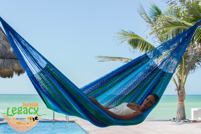 Nylon Mexican Hammock  in Oceanica Colour