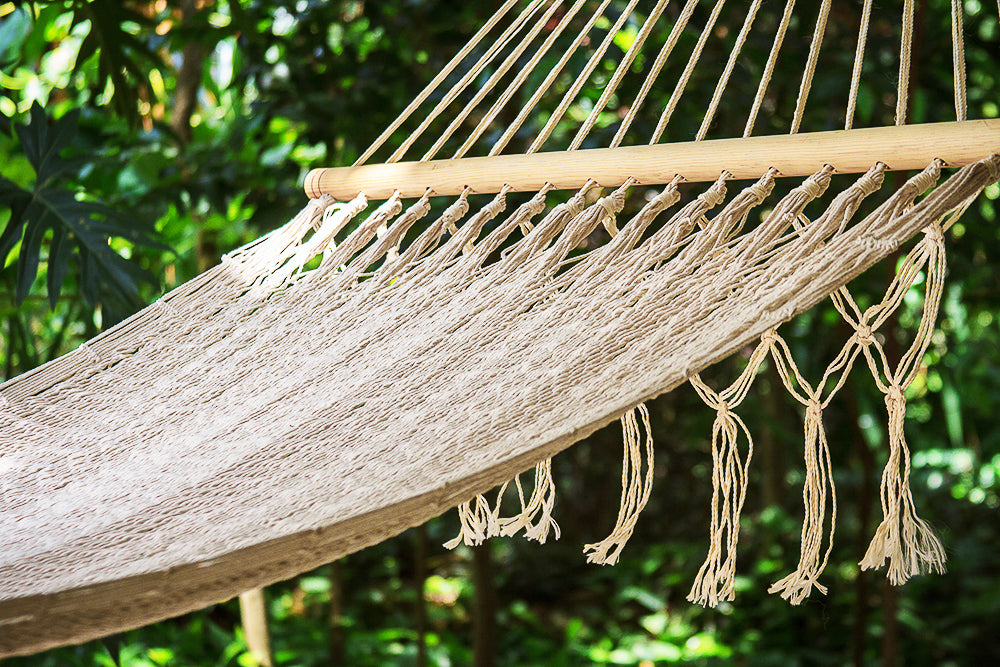 Resort Mexican Hammock with NO Fringe in Cream
