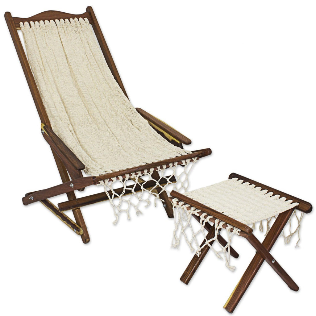 Handwoven Mexican Deck Chair - Pickup only